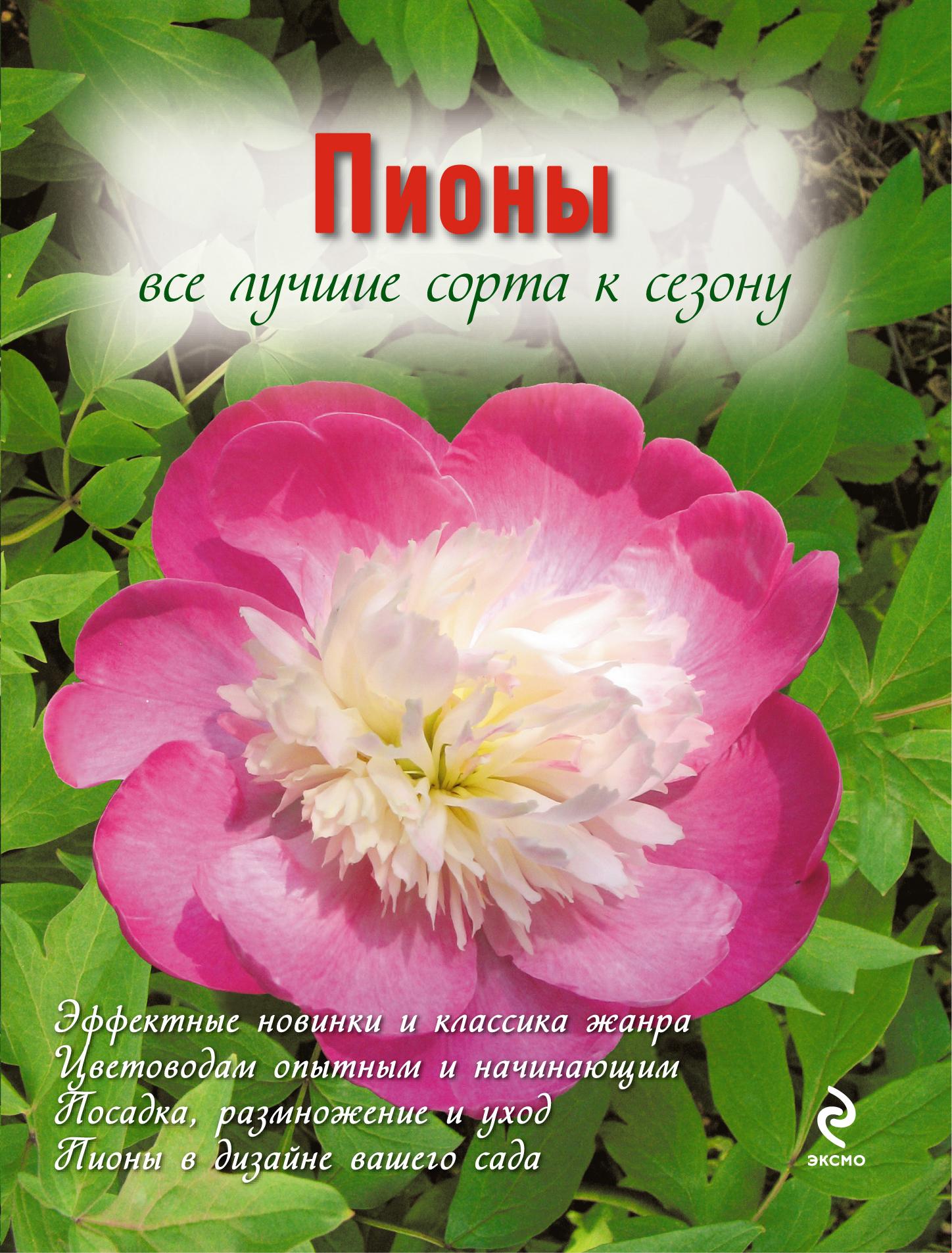 Пионы (Вырубка. Цветы в саду и на окне (обложка))