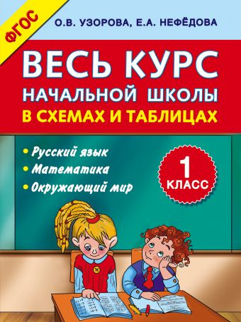 Весь курс начальной школы в схемах и таблицах 1 класс Узорова О.В., Нефедова Е.А.