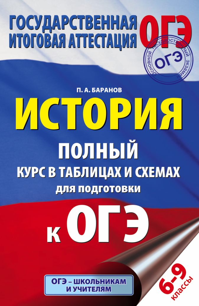 История. Полный курс в таблицах и схемах для подготовки к ОГЭ. 6-9 классы Баранов П.А.