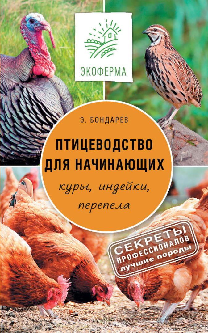 Бондарев Э.И., - Птицеводство для начинающих обложка книги
