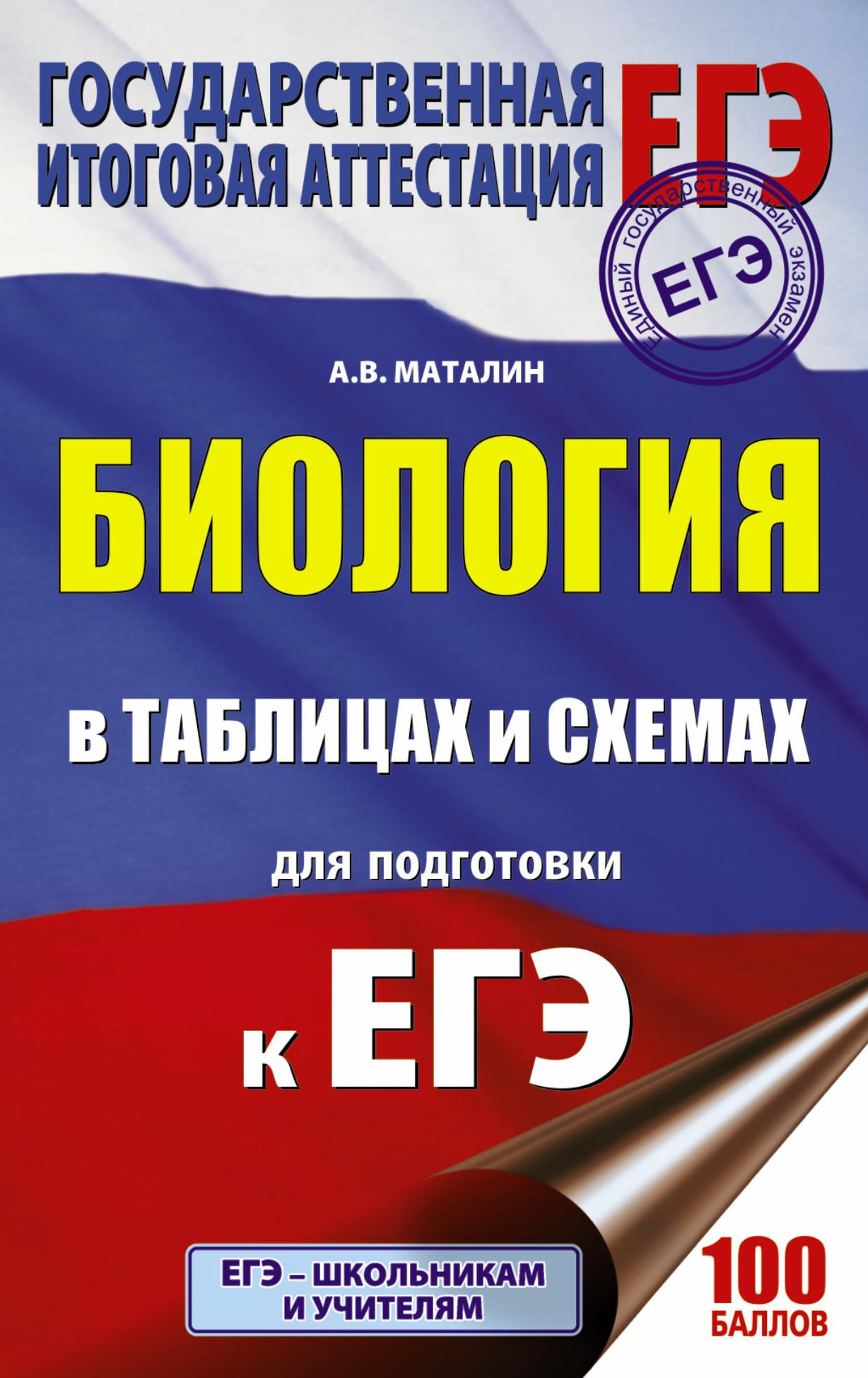 Маталин А.В. ЕГЭ. Биология в таблицах и схемах для подготовки к ЕГЭ