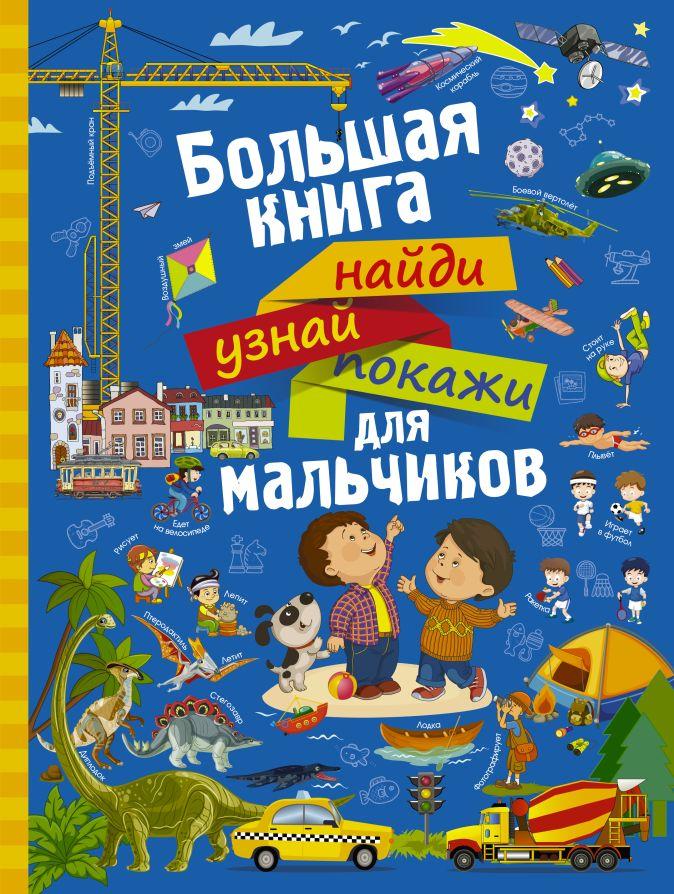 Большая книга найди, узнай, покажи для мальчиков Доманская Л.В.