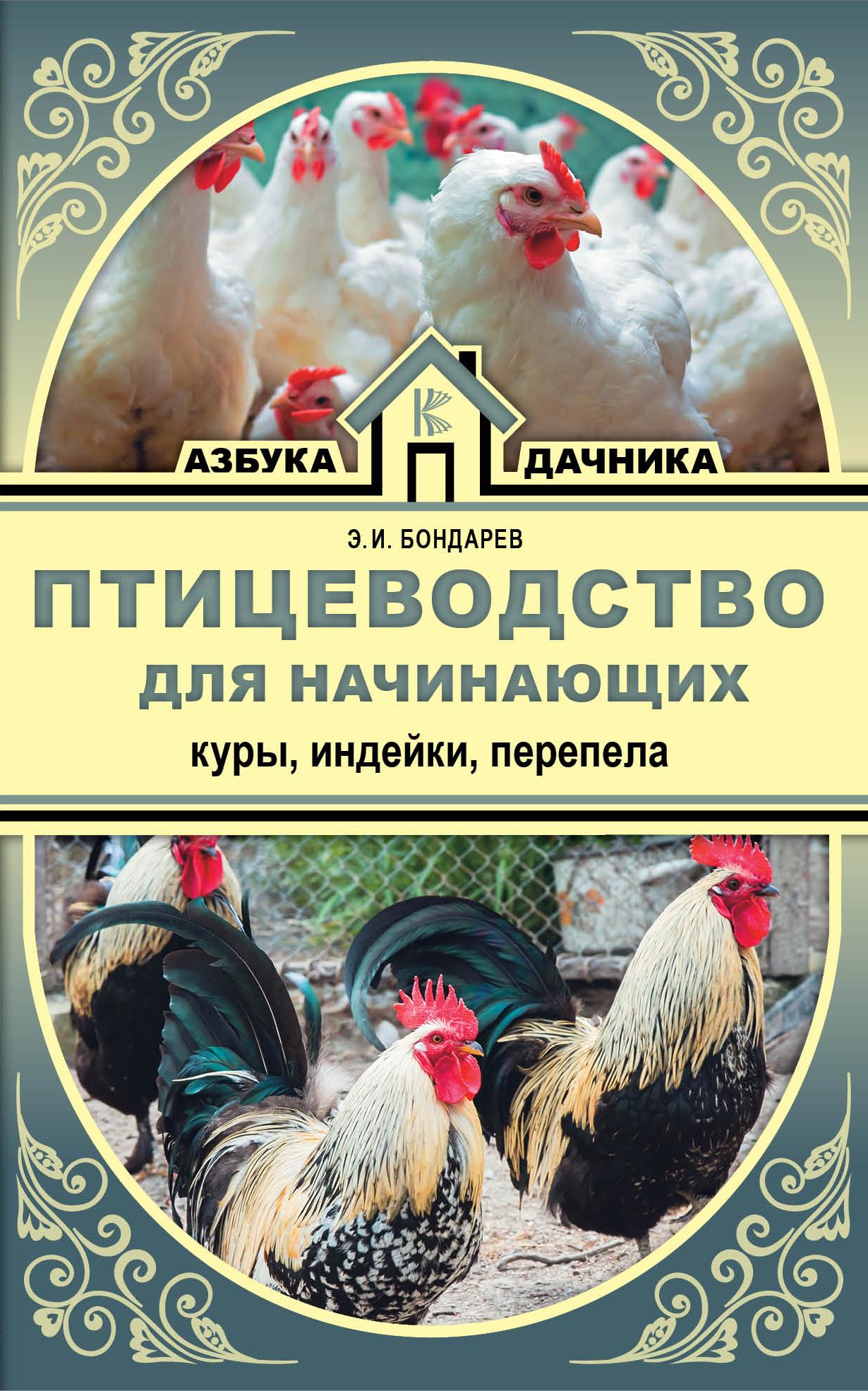 Бондарев Э.И. Птицеводство для начинающих. Куры, индейки, перепела цены онлайн