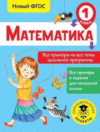 Позднева Т.С. - Математика. Все примеры на все темы школьной программы. 1 класс обложка книги