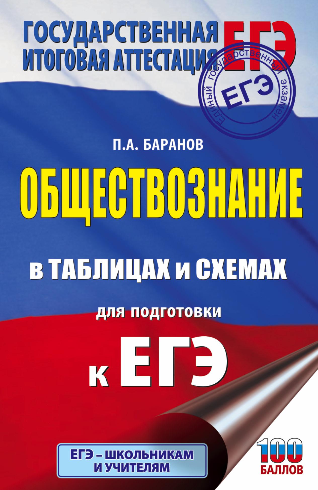 Баранов П.А. ЕГЭ. Обществознание в таблицах и схемах для подготовки к ЕГЭ