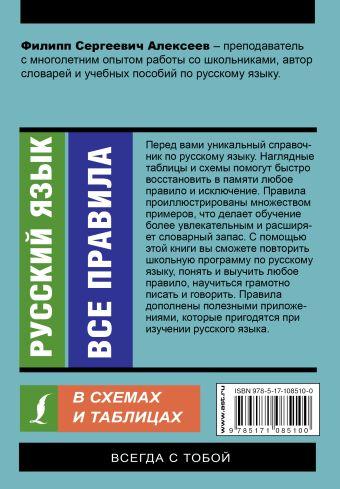 Русский язык. Все правила в схемах и таблицах Филипп Алексеев