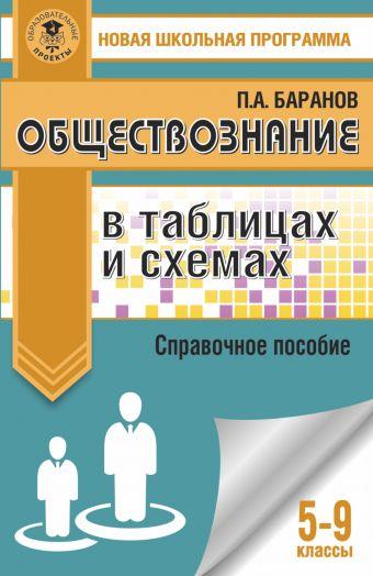 Обществознание в таблицах и схемах. Справочное пособие. 5-9 классы Баранов П.А.