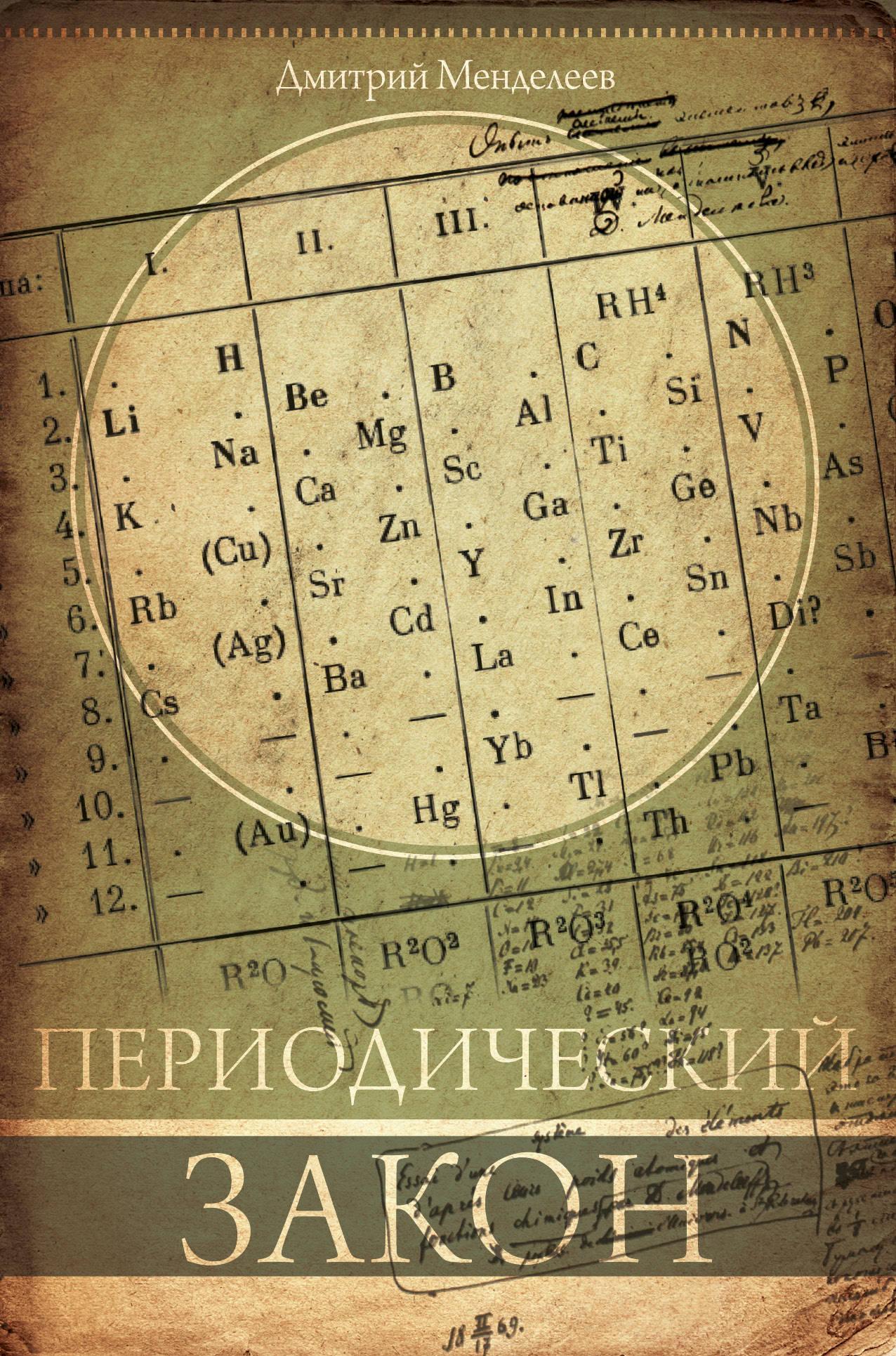 Менделеев Д.И. Периодический закон менделеев д периодический закон
