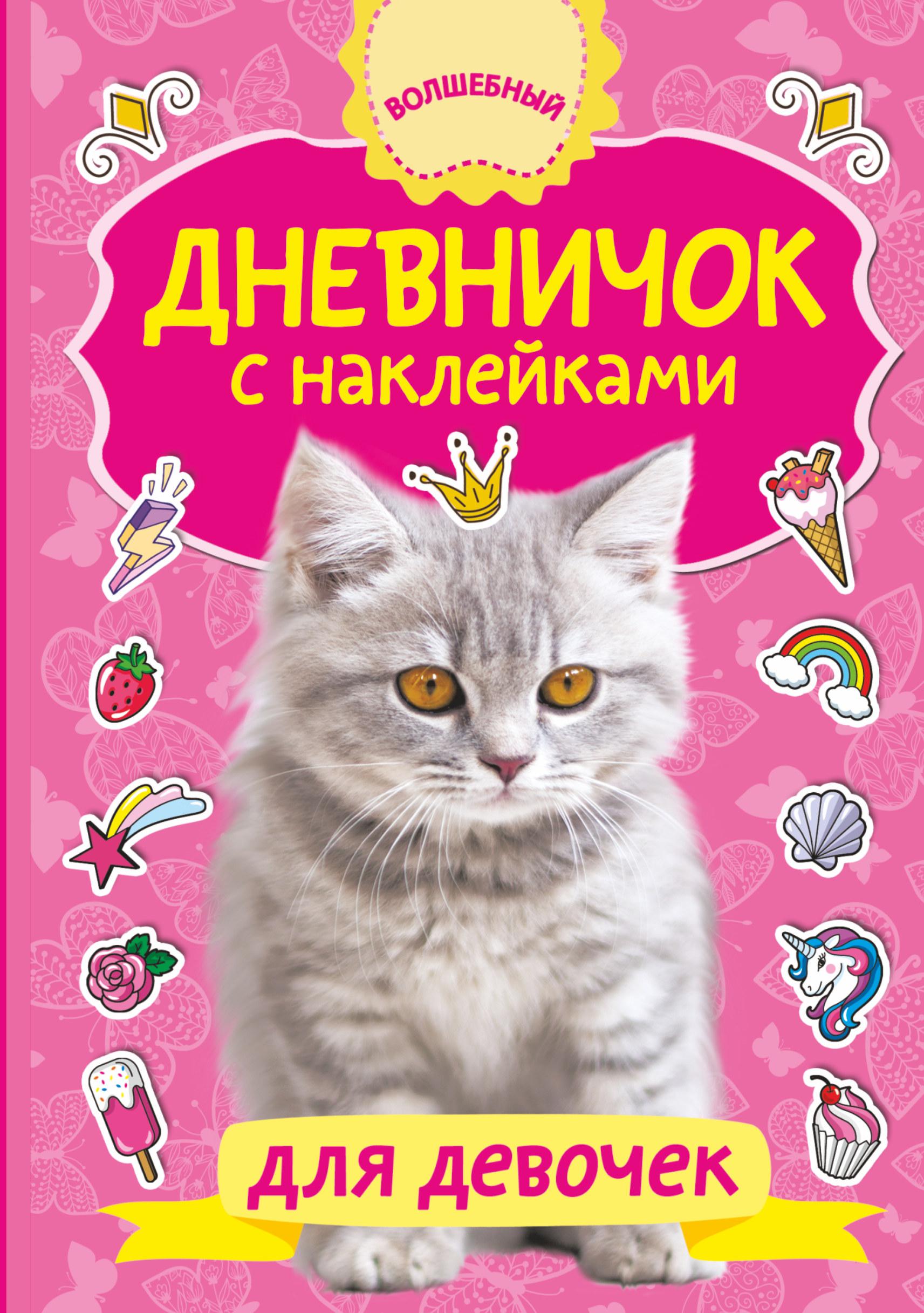 Дневничок с наклейками для девочки дневничок учащегося с наклейками