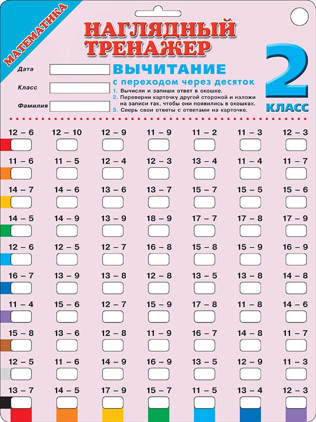 Математика. Вычитание с переходом через десяток. 2 класс ( .  )