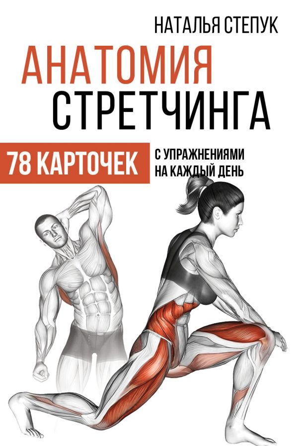 интересно Анатомия стретчинга. 78 карточек с упражнениями на каждый день. книга