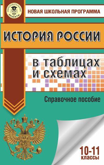 П. А. Баранов - ЕГЭ. История России в таблицах и схемах. 10-11 классы обложка книги