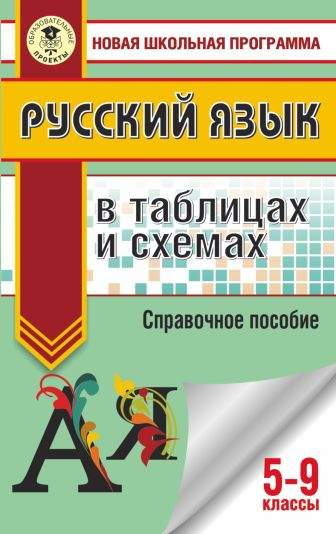 И. В. Текучева - ОГЭ. Русский язык в таблицах и схемах. 5-9 классы обложка книги