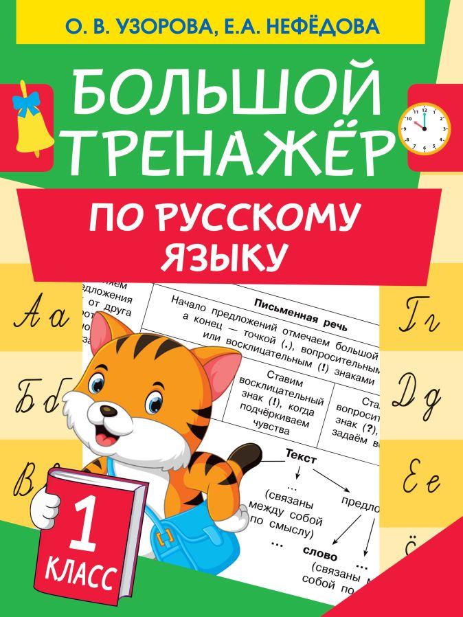 Узорова О.В., Нефедова Е.А. - Большой тренажер по русскому языку 1 класс обложка книги