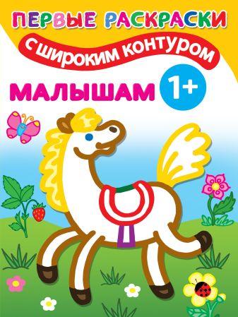 Двинина Л.В. - Малышам. 1+ Самые первые раскраски с широким контуром обложка книги