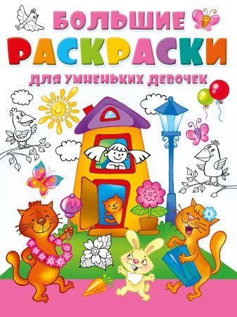Дмитриева В.Г. - Большие раскраски для умненьких девочек обложка книги