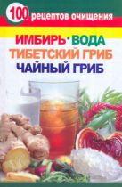 Янис В - 100 рецептов очищения. Имбирь, вода, тибетский гриб, чайный гриб' обложка книги