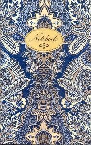 """48396.Записная книжка в пластиковой обложке А6 """"Синий орнамент"""""""