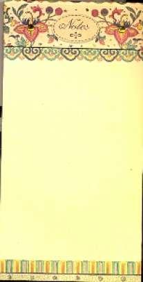 """50150.Блокнот с магнитом на подложке """"Цветочный орнамент"""""""