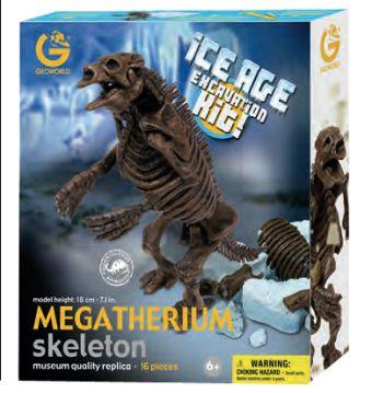 G. Ископаемые в гипсе, набор археолога, Сборная модель  Скелет Мегатерия, коробка с окном CL 178KR