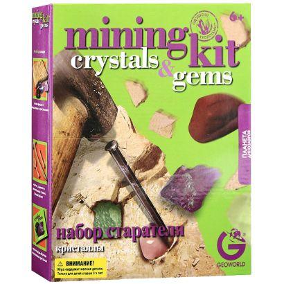G. Ископаемые в гипсе, набор геолога, Кристаллы, коробка с окном ED231KR - фото 1