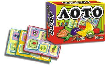 Наст.игр.:ТГ.Лото. Фрукты,овощи,цветы арт.00149