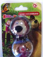 Маша и Медведь. Мини товар. Шар-неваляшка. Двойной  дисп8асс(1бол. кор=18малХ8шт)1100104