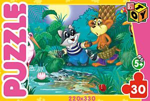 Пазл 30А.5725 Енот и обезьяна