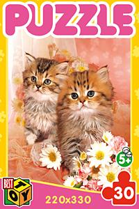 Пазл 30А.5726 Котята с цветами