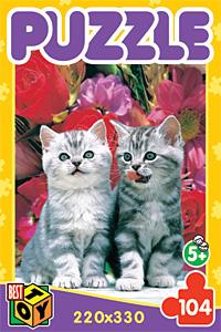 Пазл. 104А.5739 Два котенка