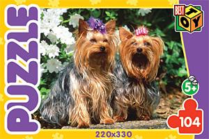 Пазл. 104А.5740 Два щенка