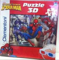 Clem(OLD).Пазл. 104К.20041 Спайдермен + 3D очки