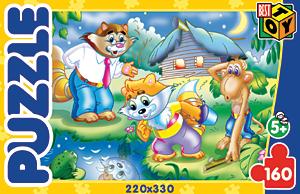 Пазл. 160А.02273 Енот и Обезьяна