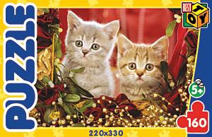 Пазл. 160А.5802 Котята с бусами