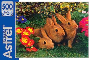 Пазл. 500А. 5818 3 Коричневых кролика