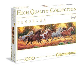 CLem.Пазл. 1000эл.   Панорама.31300 Бегущие лошади (n)