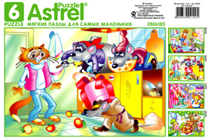 Пазл-мяг.6А.2040 Кот и Мыши