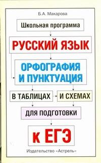Макарова Б.А. ЕГЭ Русский язык. Орфография и пунктуация в таблицах и схемах для подготовки к ЕГЭ