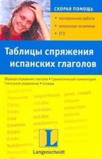 Таблицы спряжения испанских глаголов