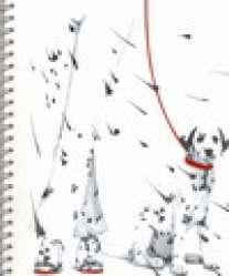 """Тетрадь общая А5 80листов на гребне """"Далматинец""""-25481 обл-лак картон"""