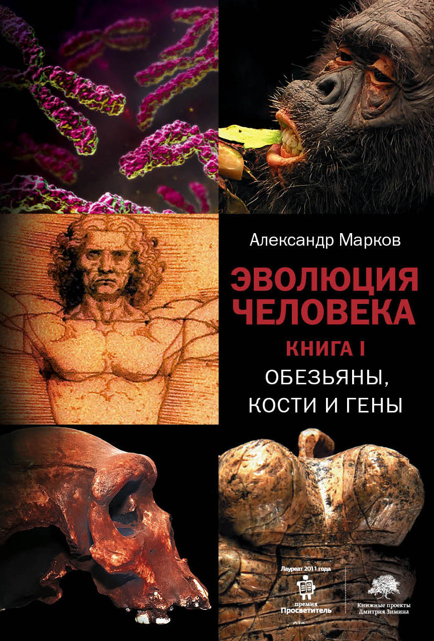 Эволюция человека. [В 2 кн.] Кн. 1. Обезьяны, кости и гены