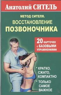Ситель А. Б. Метод Сителя. Восстановление позвоночника. 20 карточек с базовыми упражнениями книга для записей с практическими упражнениями для здорового позвоночника