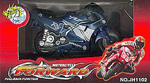K.DCS.(OLD) Форвард.Мотоцикл серебристо-синий.в кор.JH1102A