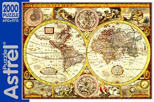 Пазл.2000А.2236 Карта полушарий