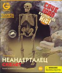 G.Эра Динозавров.  Скелет  Неандертальца