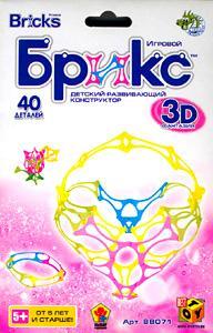 K.SH.(OLD) Конструктор Брикс 3D. 40 дет.Ваза.арт.JH8807А