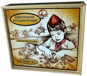 Наст.игр.:ДК.Конструктор мет.№1 980(ур.труда)в дерев.упаковке
