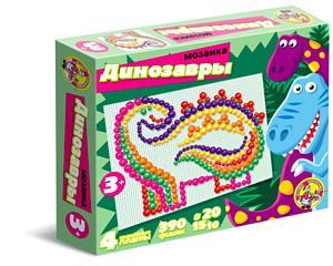 Наст.игр.:ДК.Мозаика 4 состояния платы Динозавры арт.2011