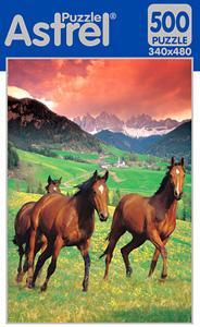 Пазл. 500А. 8869 Три лошади