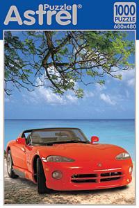 Пазл.1000А.04207 Красная машина у моря
